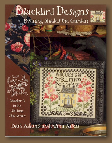 Blackbird designs loose feathers club evening shades for Garden club book by blackbird designs